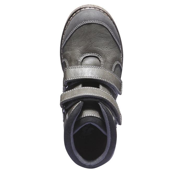 Detská členková obuv na suchý zips mini-b, šedá, 311-2101 - 19