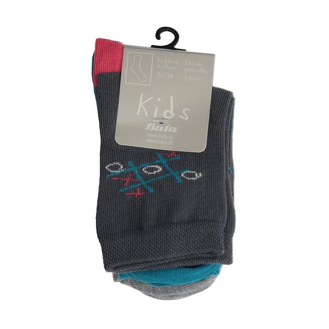 Detské farebné ponožky 3 páry bata, 919-0593 - 13