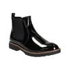 Lakované Chelsoa Boots na výraznej podošve bata, čierna, 591-6603 - 13