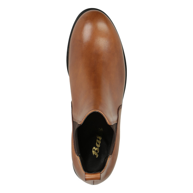 Dámske kožené Chelsea boots bata, hnedá, 594-3902 - 19