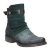 Kožená členková obuv so striebornými detailami bata, 596-9614 - 13