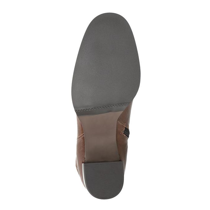 Kožené čižmy na masívnom podpätku bata, hnedá, 796-4635 - 26