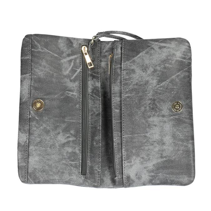 Šedá listová kabelka bata, šedá, 961-6668 - 15
