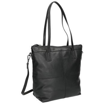 Kožená kabelka s odnímatelným popruhom bata, čierna, 964-6234 - 13