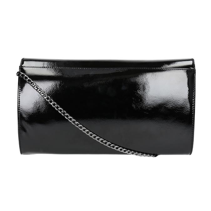 Čierna listová  kabelka so striebornou retiazkou bata, čierna, 961-6221 - 19