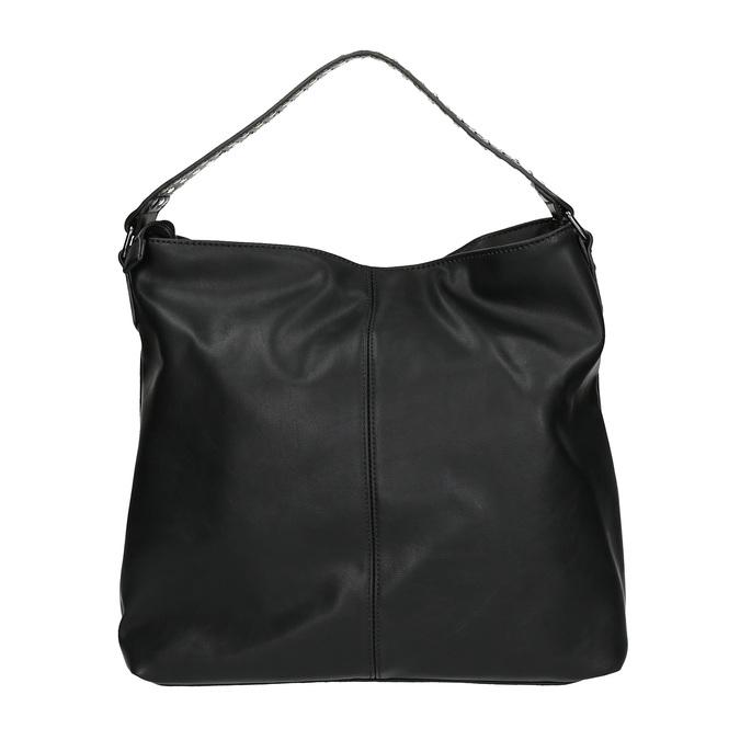 Dámska kabelka so zipsami bata, čierna, 961-6127 - 19