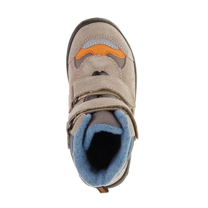 Kožené detské topánky mini-b, šedá, 293-2150 - 19