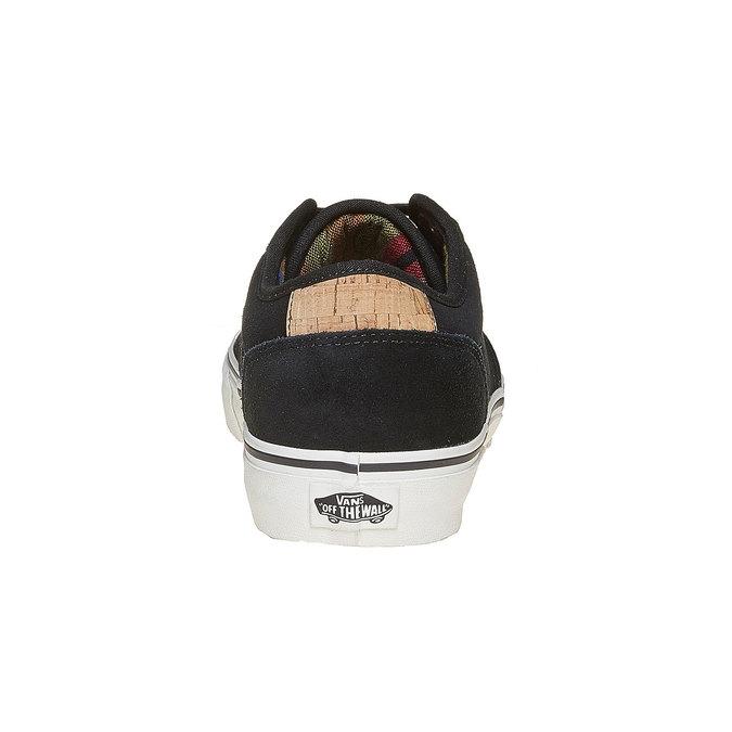 Pánske kožené tenisky čierne vans, čierna, 803-6304 - 17