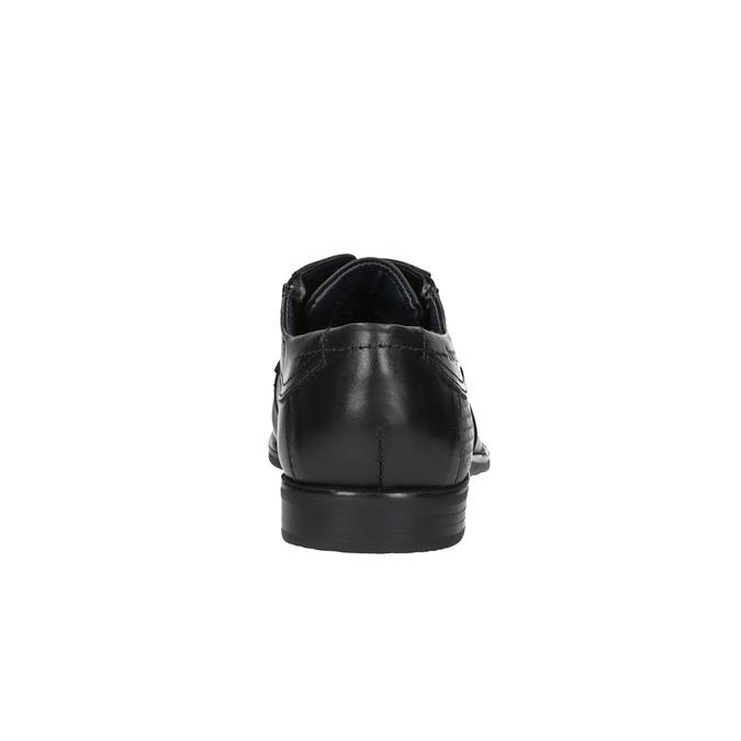 Pánske kožené poltopánky bugatti, čierna, 824-6013 - 17