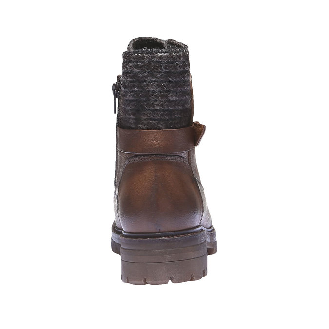 Kožené členkové topánky bata, hnedá, 596-4104 - 17