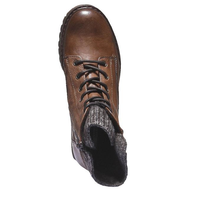 Kožené členkové topánky bata, hnedá, 596-4104 - 19