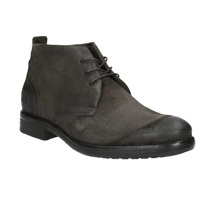 Členková obuv z brúsenej kože bata, šedá, 846-6611 - 13