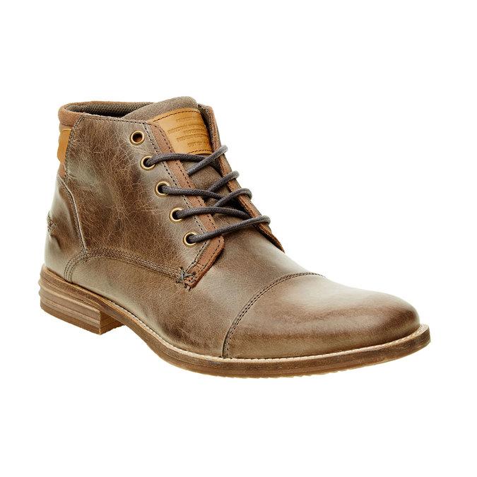 Kožená členková obuv pánska bata, šedá, 894-2620 - 13