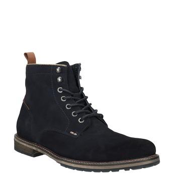 Členková kožená obuv bata, modrá, 893-9651 - 13