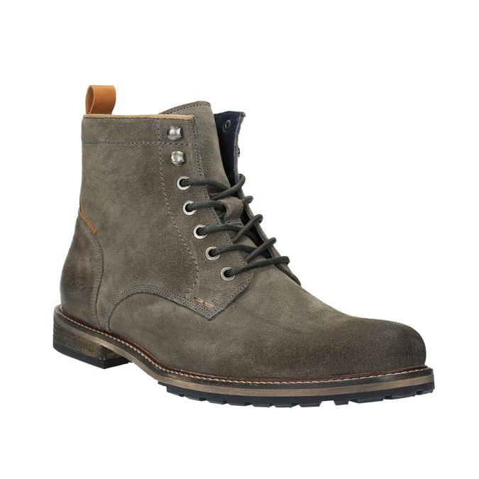 Pánska členková obuv bata, šedá, 893-2651 - 13