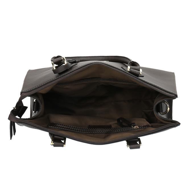 Kabelka s pevnými rúčkami bata, hnedá, 961-4646 - 15