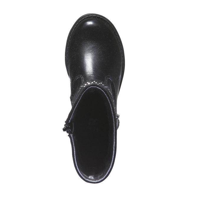 Čižmy so zdobením mini-b, čierna, 291-6126 - 19