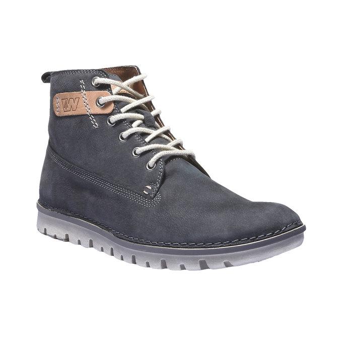 Kožená obuv na šnurovanie weinbrenner, fialová, 896-9340 - 13