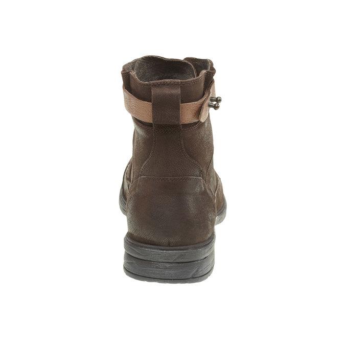 Kožené členkové topánky bata, hnedá, 894-4165 - 17