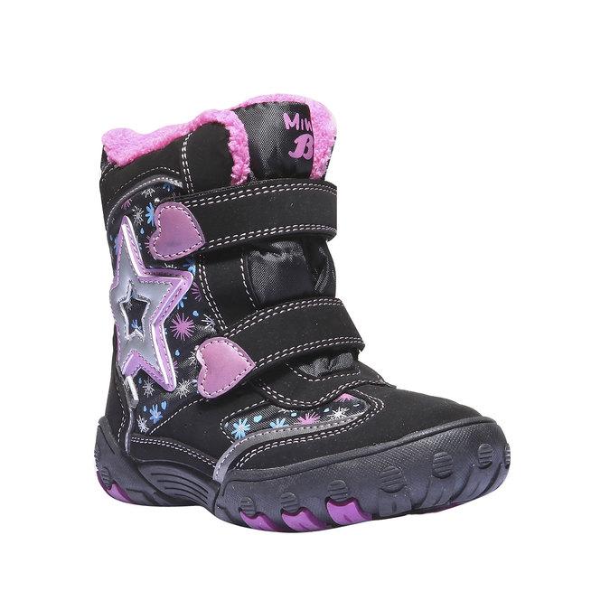 Detská obuv mini-b, čierna, 291-6100 - 13