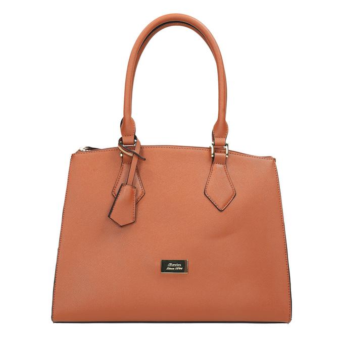 Hnedá elegantná kabelka s pevnými rúčkami bata, hnedá, 961-3646 - 19