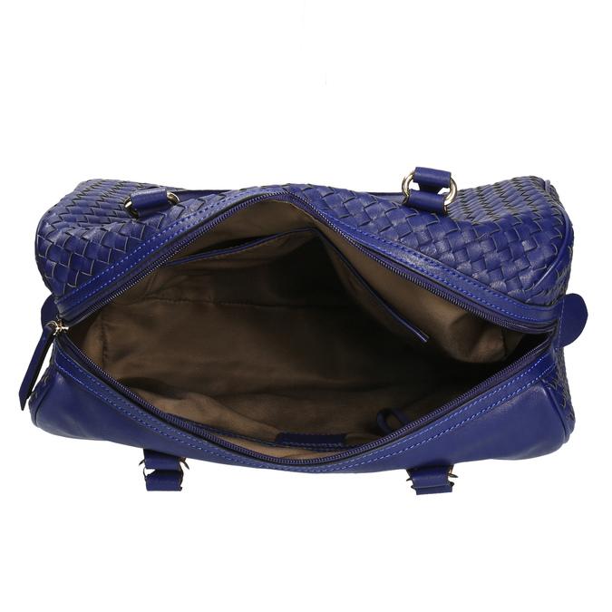 Bowling kabelka s prepleteným vzorom bata, modrá, 961-9629 - 15