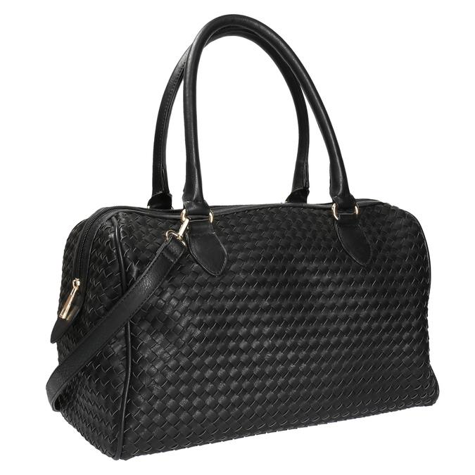 Bowling kabelka s prepletaným vzorom bata, čierna, 961-6629 - 13
