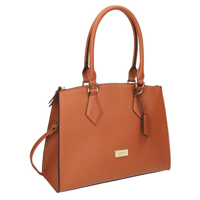 Hnedá elegantná kabelka s pevnými rúčkami bata, hnedá, 961-3646 - 13