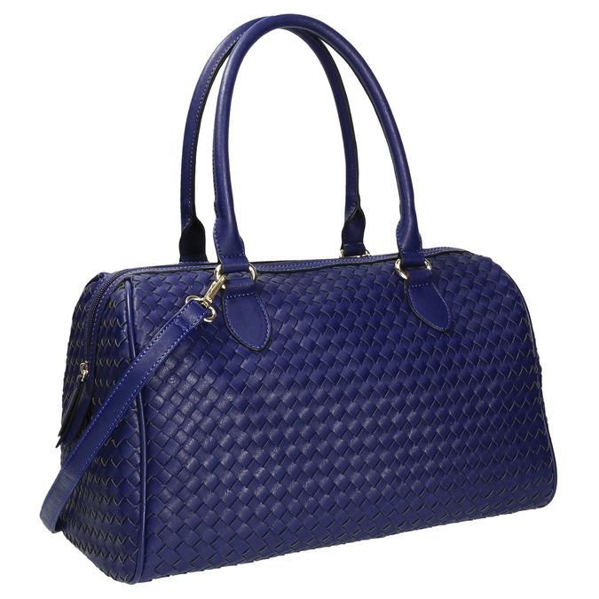 Bowling kabelka s prepleteným vzorom bata, modrá, 961-9629 - 13