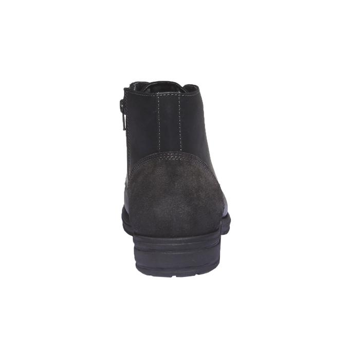 Ležérna kožená obuv bata, čierna, 894-6555 - 17