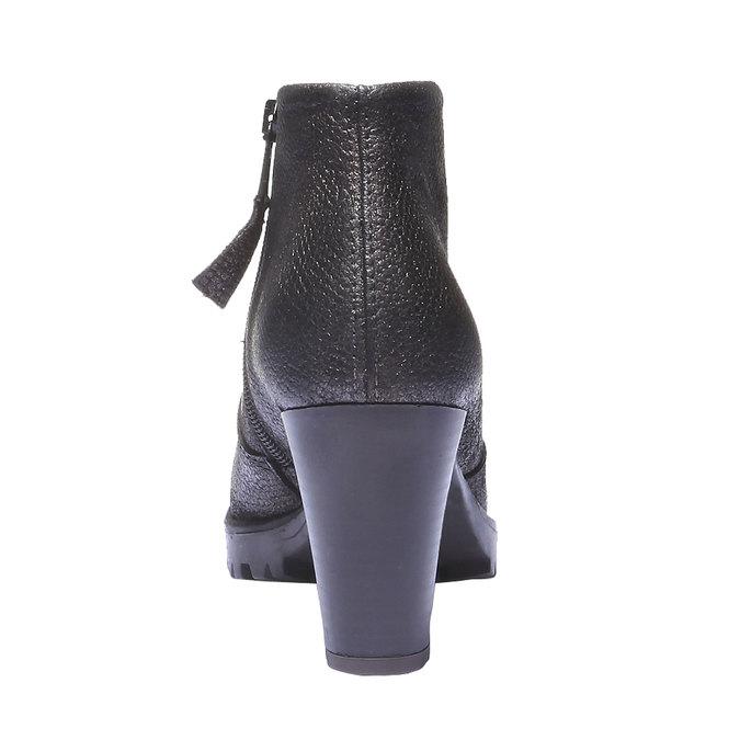Kožené členkové topánky bata, šedá, 796-2107 - 17