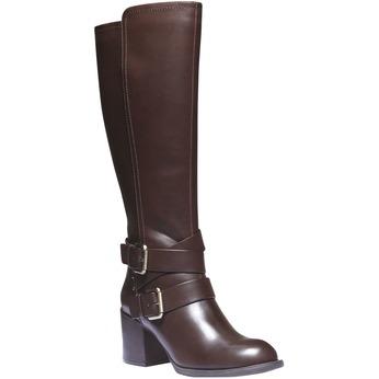 Čižmy s prackami bata, hnedá, 791-4156 - 13