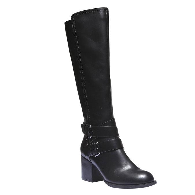Čižmy s prackami bata, čierna, 791-6156 - 13