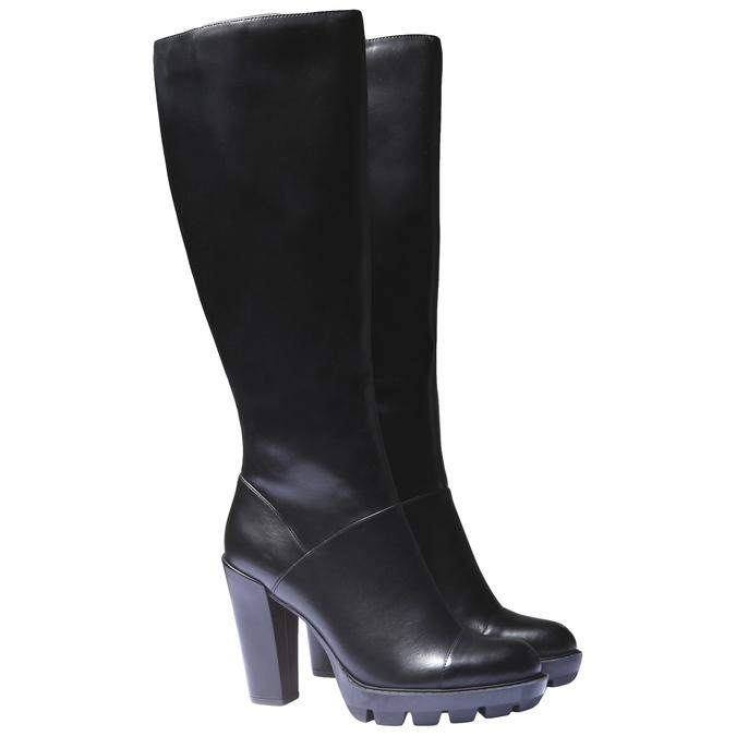 Čižmy na originálnej podrážke bata, čierna, 791-6574 - 26