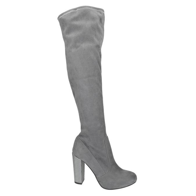 Dámské čižmy nad kolená bata, šedá, 799-2606 - 19