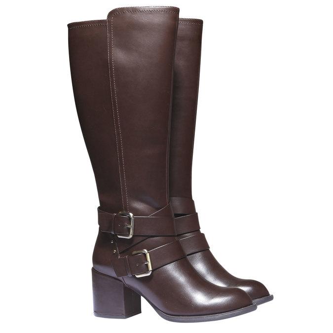 Čižmy s prackami bata, hnedá, 791-4156 - 26