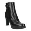 Členková obuv s leopardím vzorom bata, čierna, 796-6610 - 13