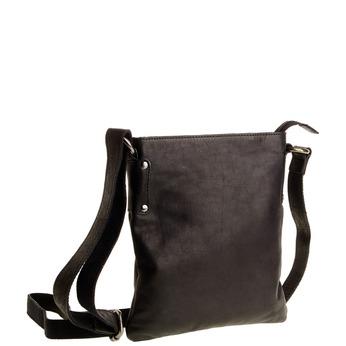 Kožená Crossbody taška bata, čierna, 964-6113 - 13