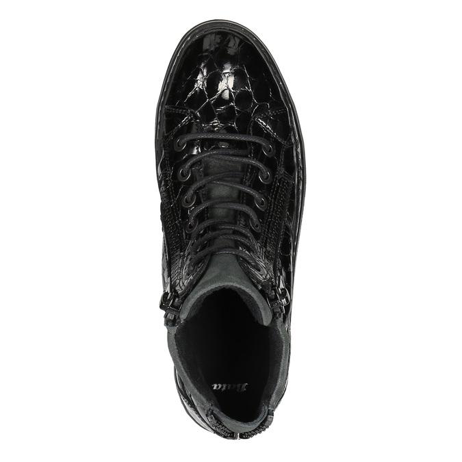 Kožené členkové tenisky so zipsami bata, čierna, 546-6600 - 19