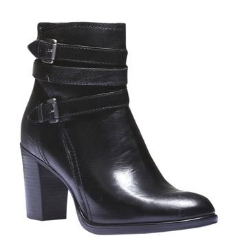 Kožené členkové čižmy bata, čierna, 794-6100 - 13