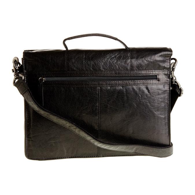 Kožená aktovka bata, čierna, 964-6138 - 26