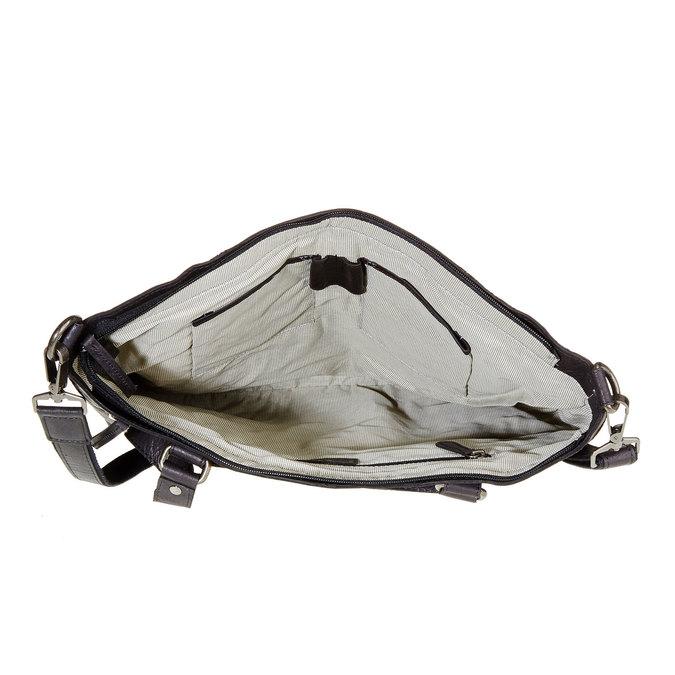 Kožená dámská kabelka bata, čierna, 964-6132 - 15