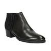 Kožená členková obuv na nízkom podpätku bata, čierna, 696-6613 - 13