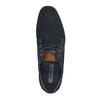Ležérne kožené poltopánky k členkom bugatti, modrá, 826-9009 - 19