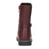 Kožené dievčenské čižmy mini-b, červená, 294-5200 - 17