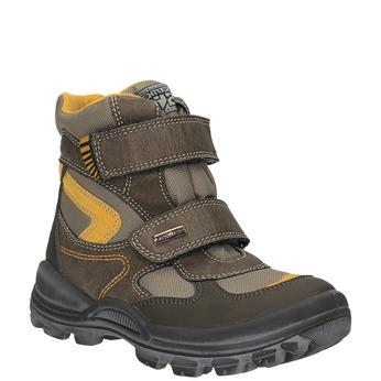 Detská zimná obuv na suchý zips mini-b, hnedá, 499-3103 - 13