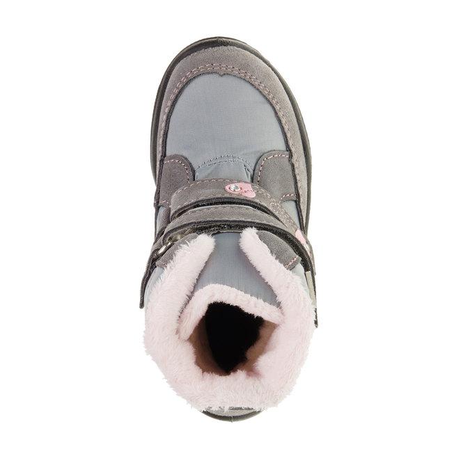 Kožené zimné topánky mini-b, šedá, 293-2152 - 19
