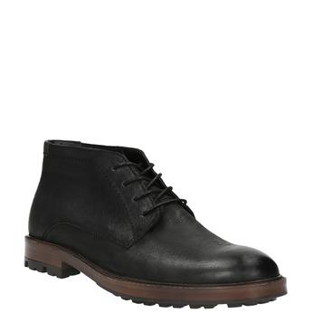 Kožená členková obuv pánska bata, čierna, 826-6642 - 13