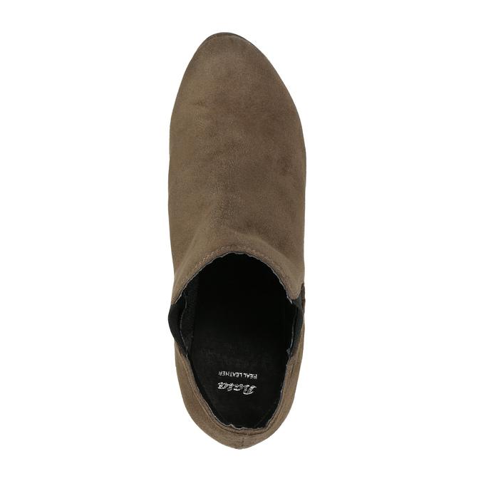 Členkové čižmy na podpätku s pružnými bokmi bata, béžová, 799-2601 - 19