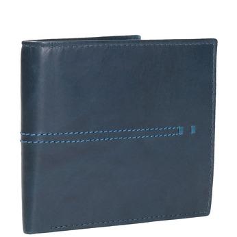 Kožená peňaženka s prešívaním bata, modrá, 944-9176 - 13